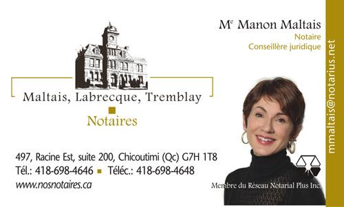 Manon Maltais - Notaire